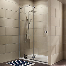 Cooke & Lewis Luxuriant Hinged Shower Door (W)1400mm