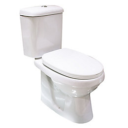 Plumbsure Falmouth Contemporary Close-Coupled Toilet with Soft
