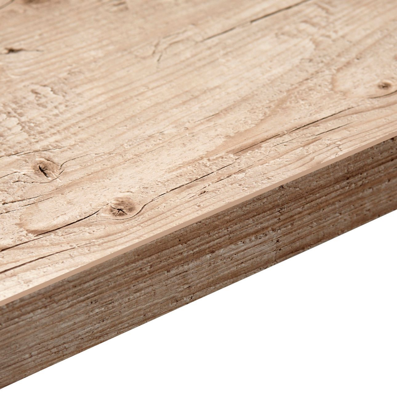 Laminate Wood Kitchen Worktops: 38mm B&Q Capitol Pine Laminate Astral Dove Wood Effect