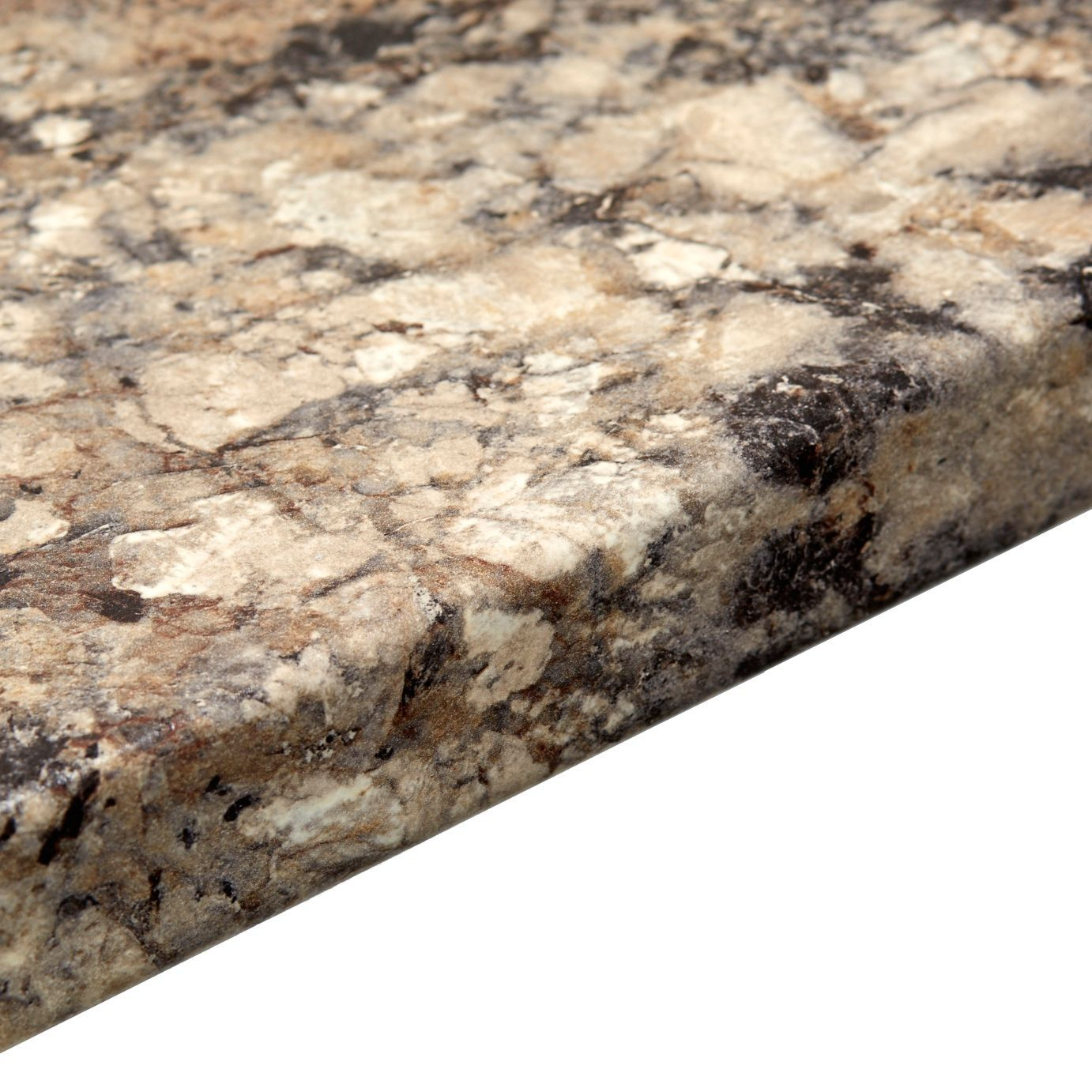 38mm Carnival Granite Marble Effect Round Edge Worktop (l)3000mm (d)600mm