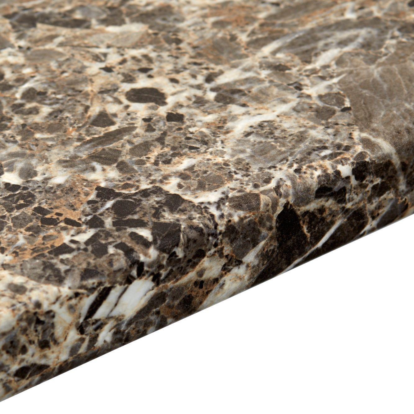 Bathroom worktops b q - 38mm B Q Italian Marble Post Formed 3mm Kitchen Worktop L 3m D 600mm Departments Diy At B Q