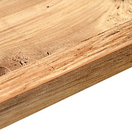 38mm B&Q Mississippi Pine Square Edge Kitchen Worktop
