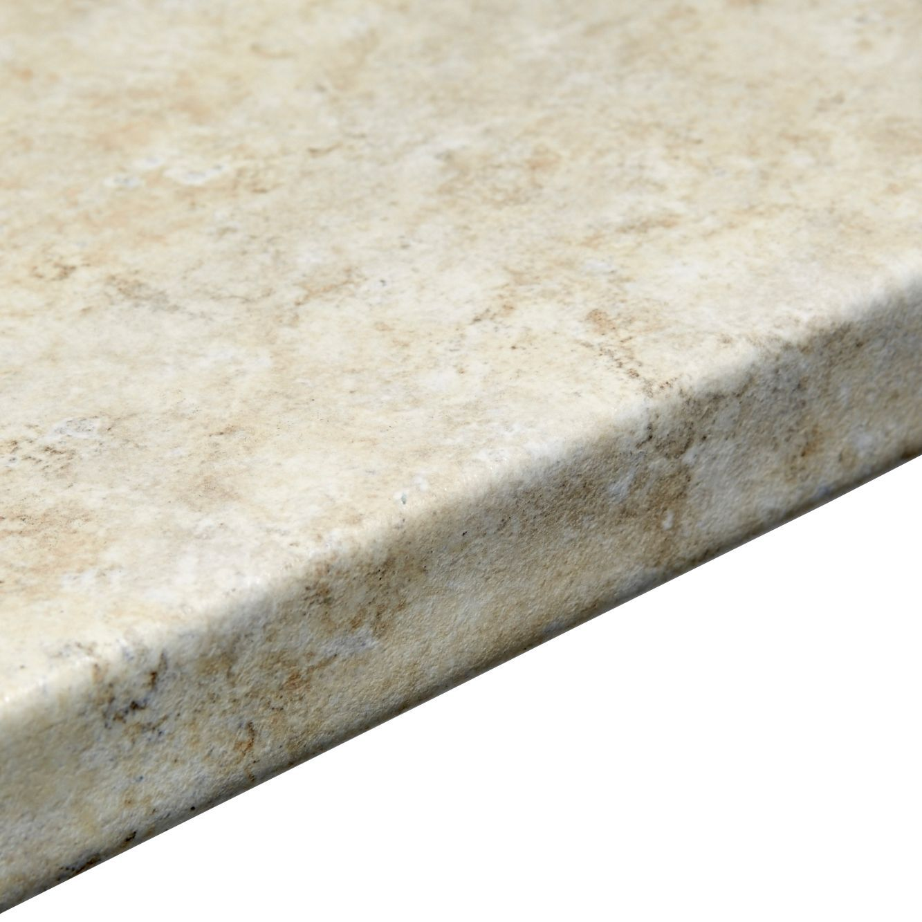 Bathroom worktops b q - 38mm Natural Stone Marble Effect Round Edge Worktop L 3000mm D 600mm Departments Diy At B Q