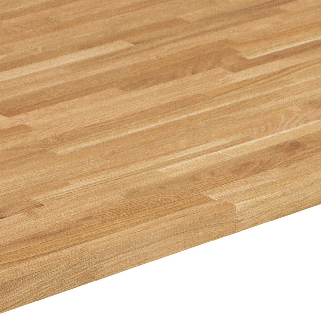 Bq Kitchen Flooring 26mm Bq Solid Oak Square Edge Kitchen Worktop L3000mm D600mm