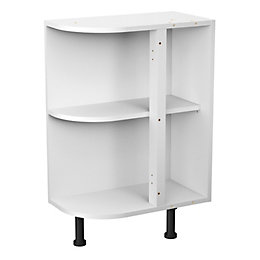 Cooke & Lewis White Curved End Base Cabinet
