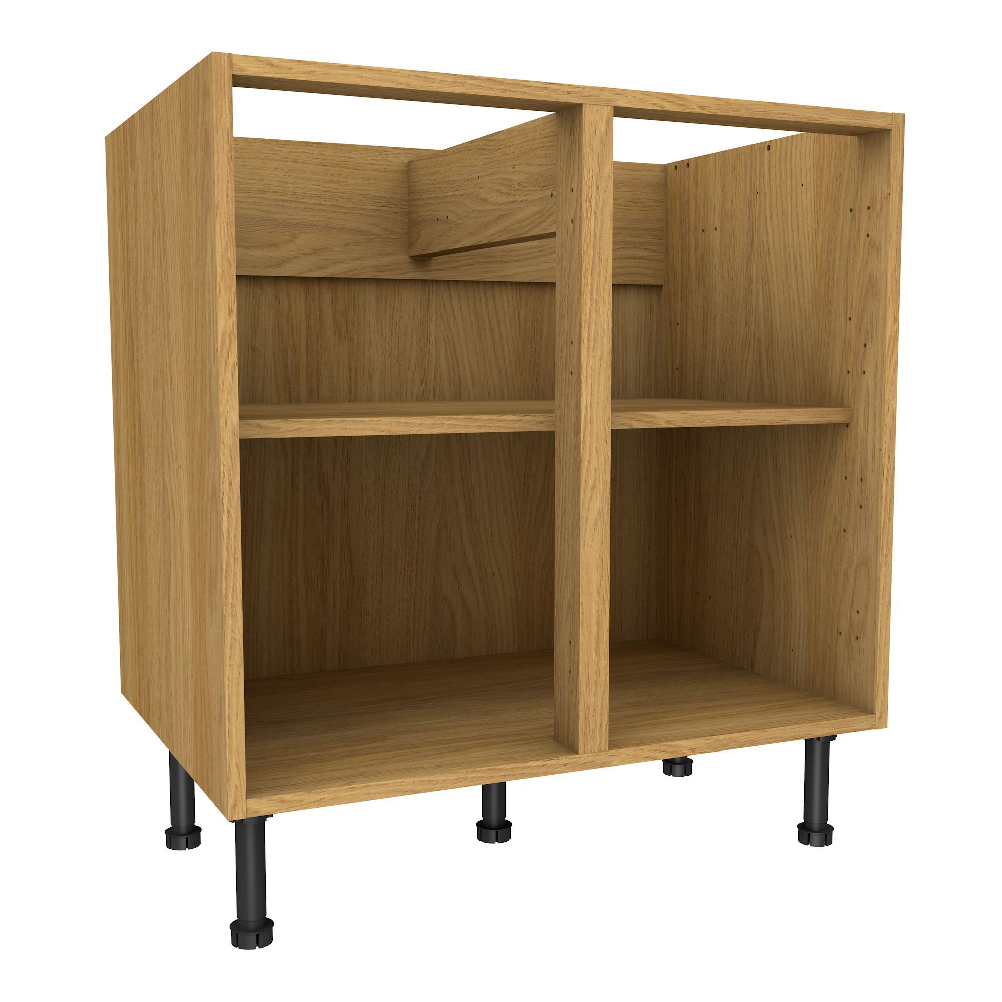 Kitchen base cabinets oak - Cooke Lewis Oak Effect Standard Base Cabinet W 800mm Departments Diy At B Q