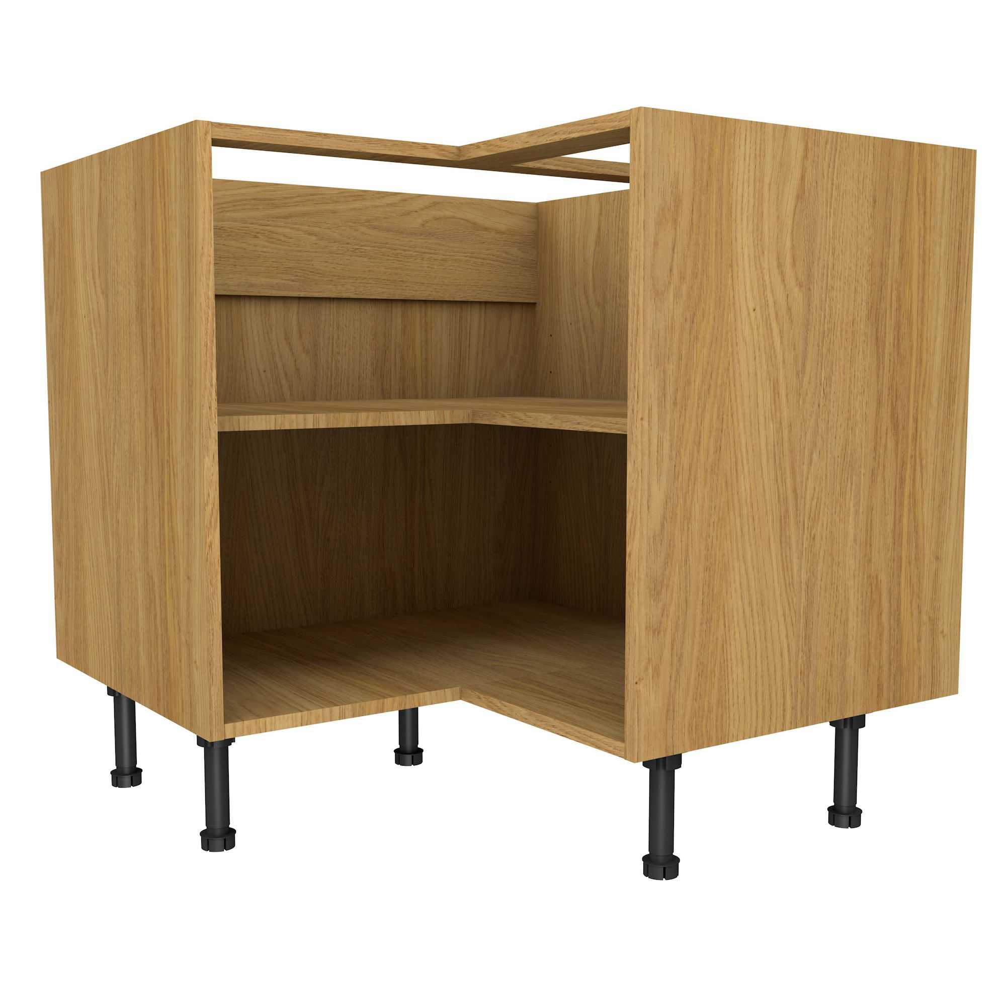 Oak Effect Kitchen Cabinets: Cooke & Lewis Oak Effect Corner Base Cabinet (W)925mm