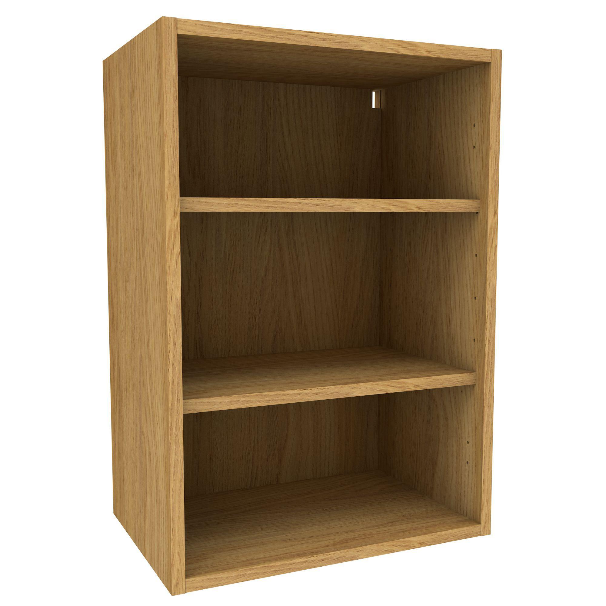 Cooke lewis oak effect deep wall cabinet w 500mm for Beech kitchen wall cupboards