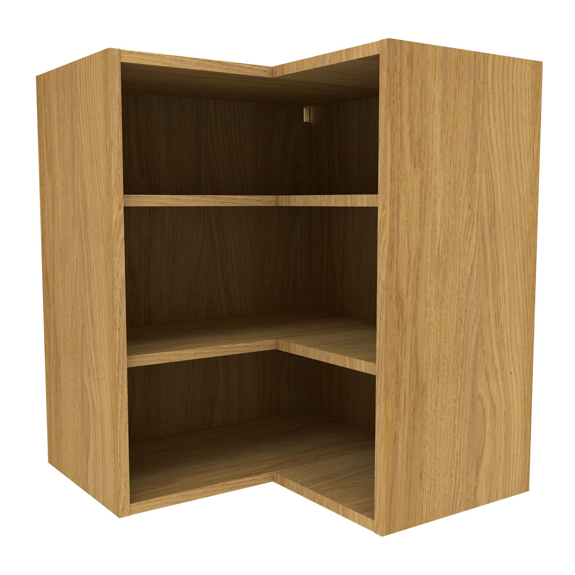Cooke lewis oak effect belfast base cabinet w 600mm for Kitchen cabinets 600mm