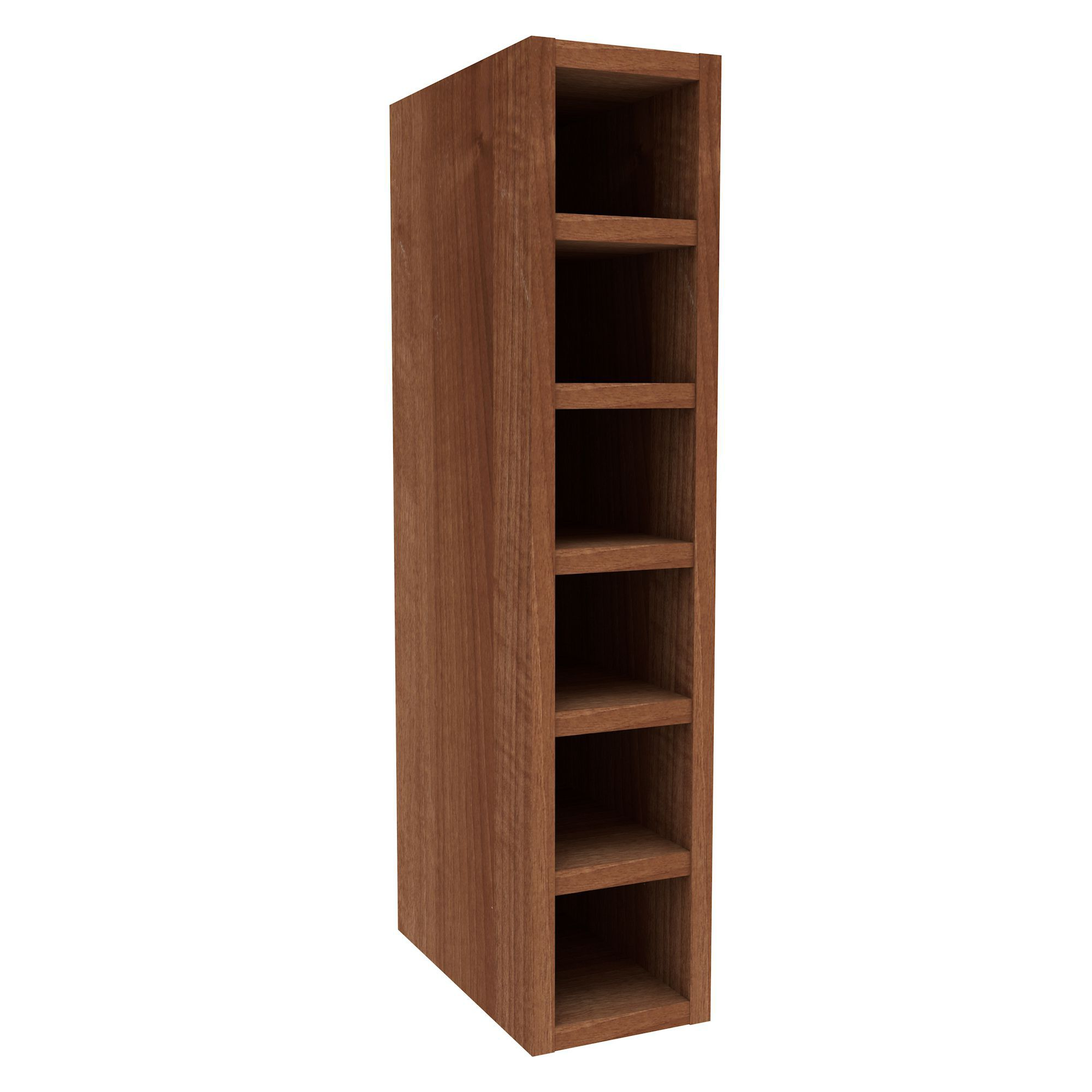 Oak Effect Kitchen Cabinets: Cooke & Lewis Walnut Effect Wine Rack Wall Cabinet (W