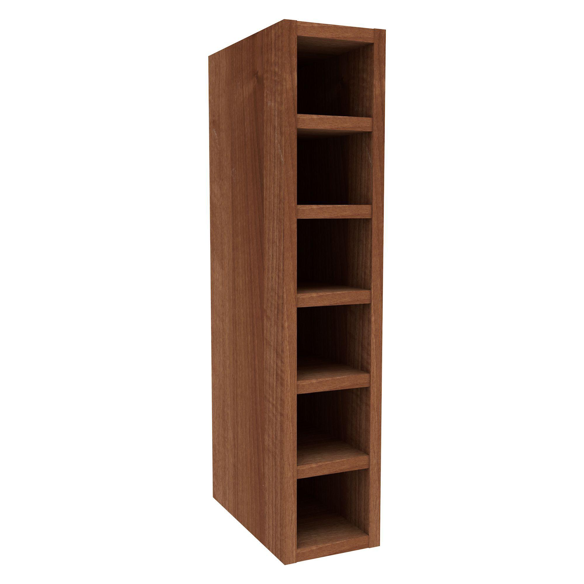 Cooke & Lewis Walnut Effect Wine Rack Wall Cabinet (w)150mm