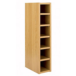 Cooke & Lewis Oak Effect Wine Rack Wall