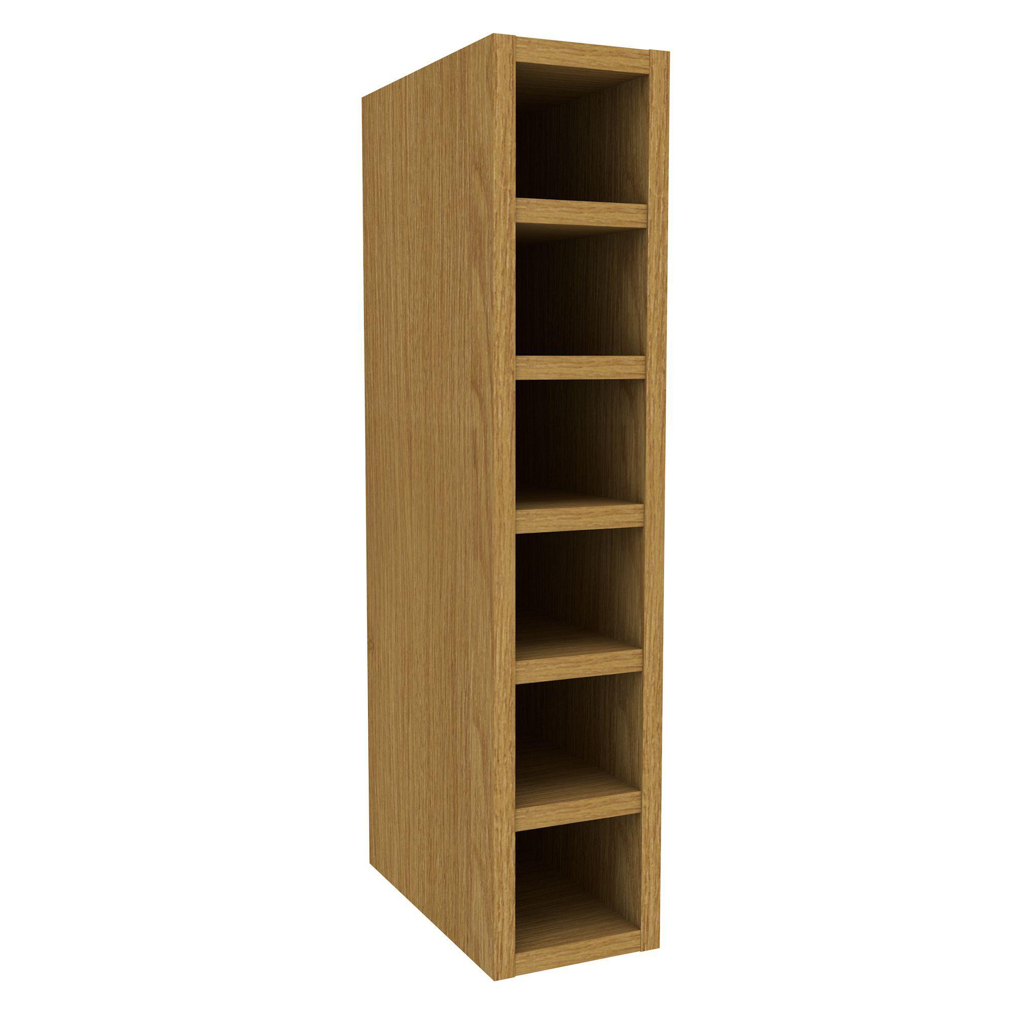 Cooke & Lewis Oak Effect Wine Rack Wall Cabinet (w)150mm