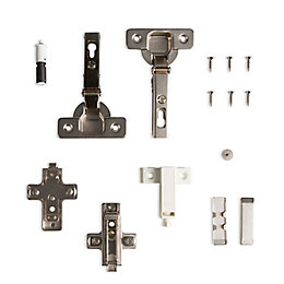 Cooke & Lewis Push-Open 110° Non-Framed Cabinet Hinge,