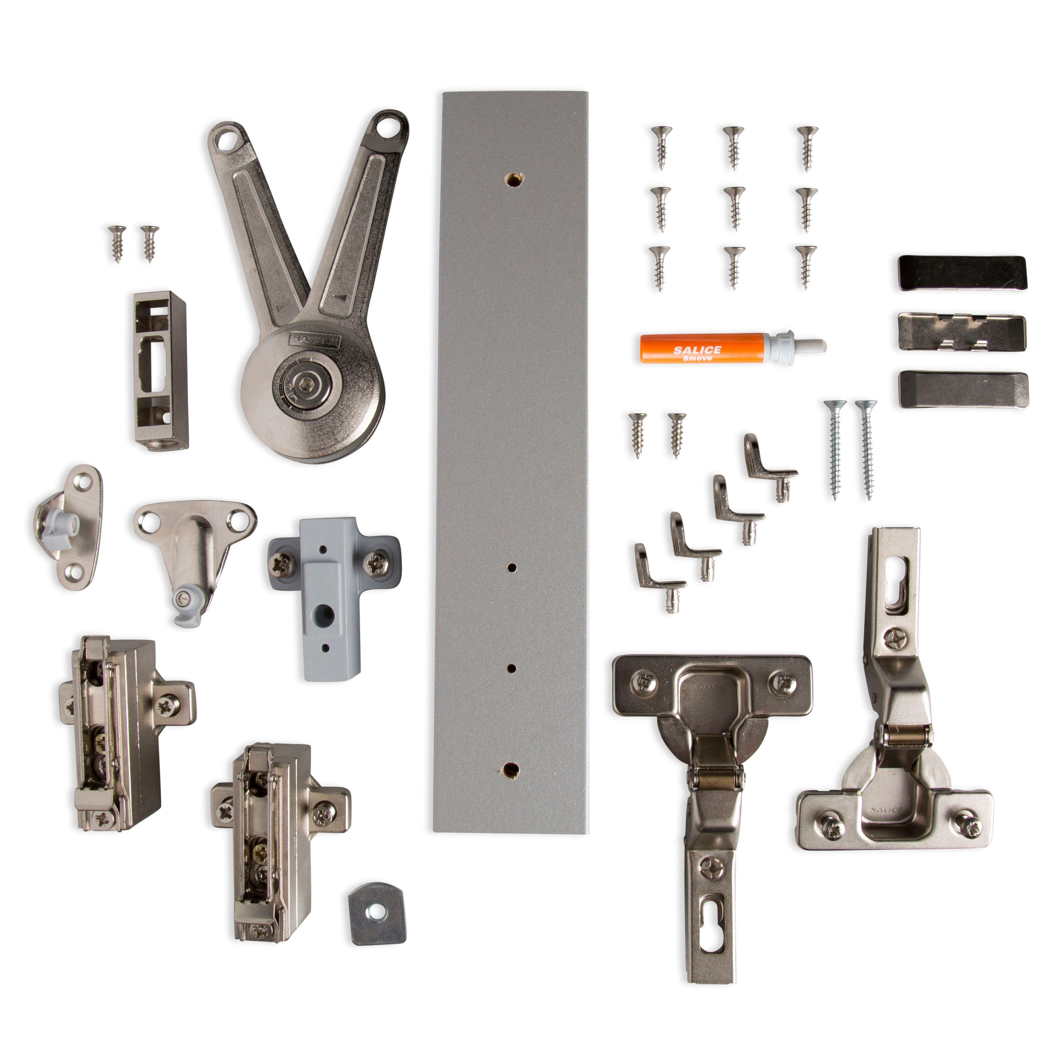 Cooke & Lewis Door Stay Framed 600mm Bridging Cabinet Hinge Pack
