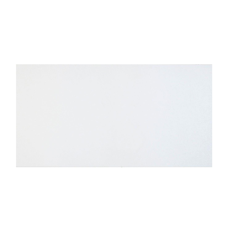 Cooke & Lewis Raffello High Gloss White Slab Pan Drawer Front / Bi-fold Door (w)500mm