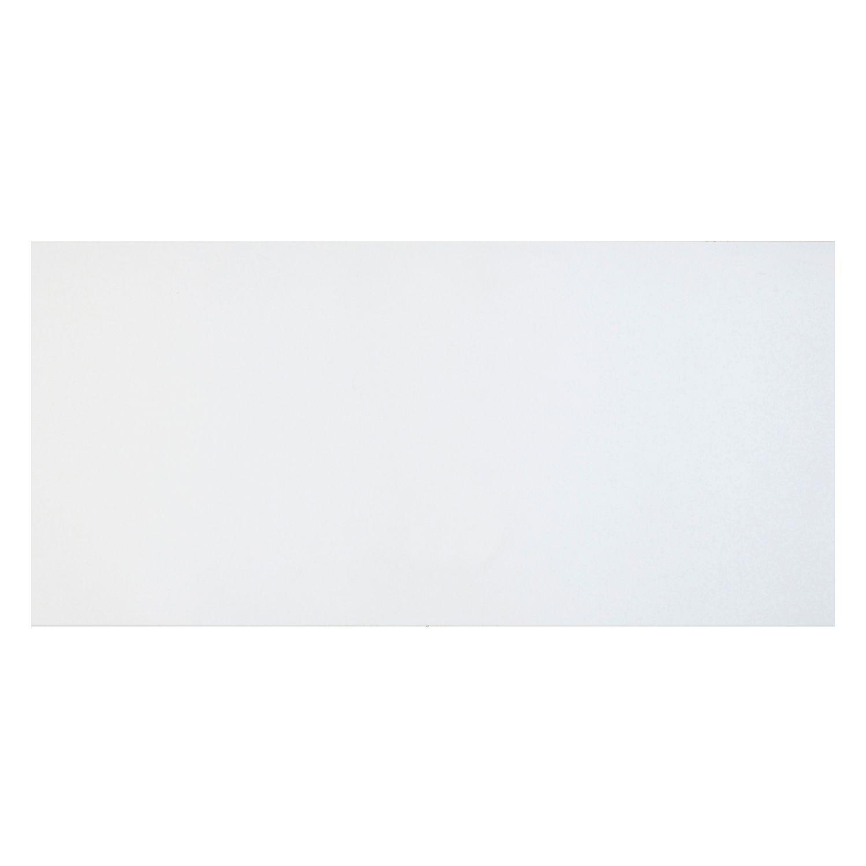 Cooke & Lewis Raffello High Gloss White Slab Pan Drawer Front / Bi-fold Door (w)600mm