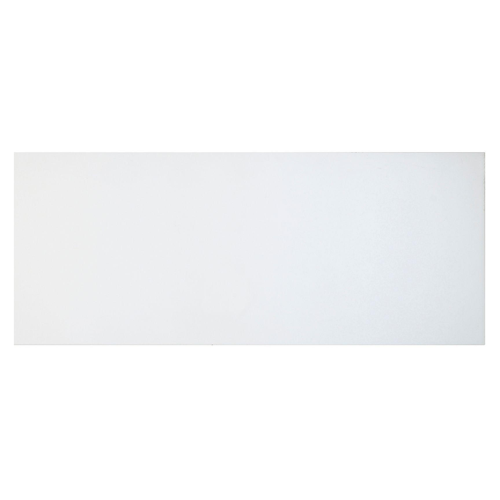 Cooke & Lewis Raffello High Gloss White Slab Pan Drawer Front / Bi-fold Door (w)800mm