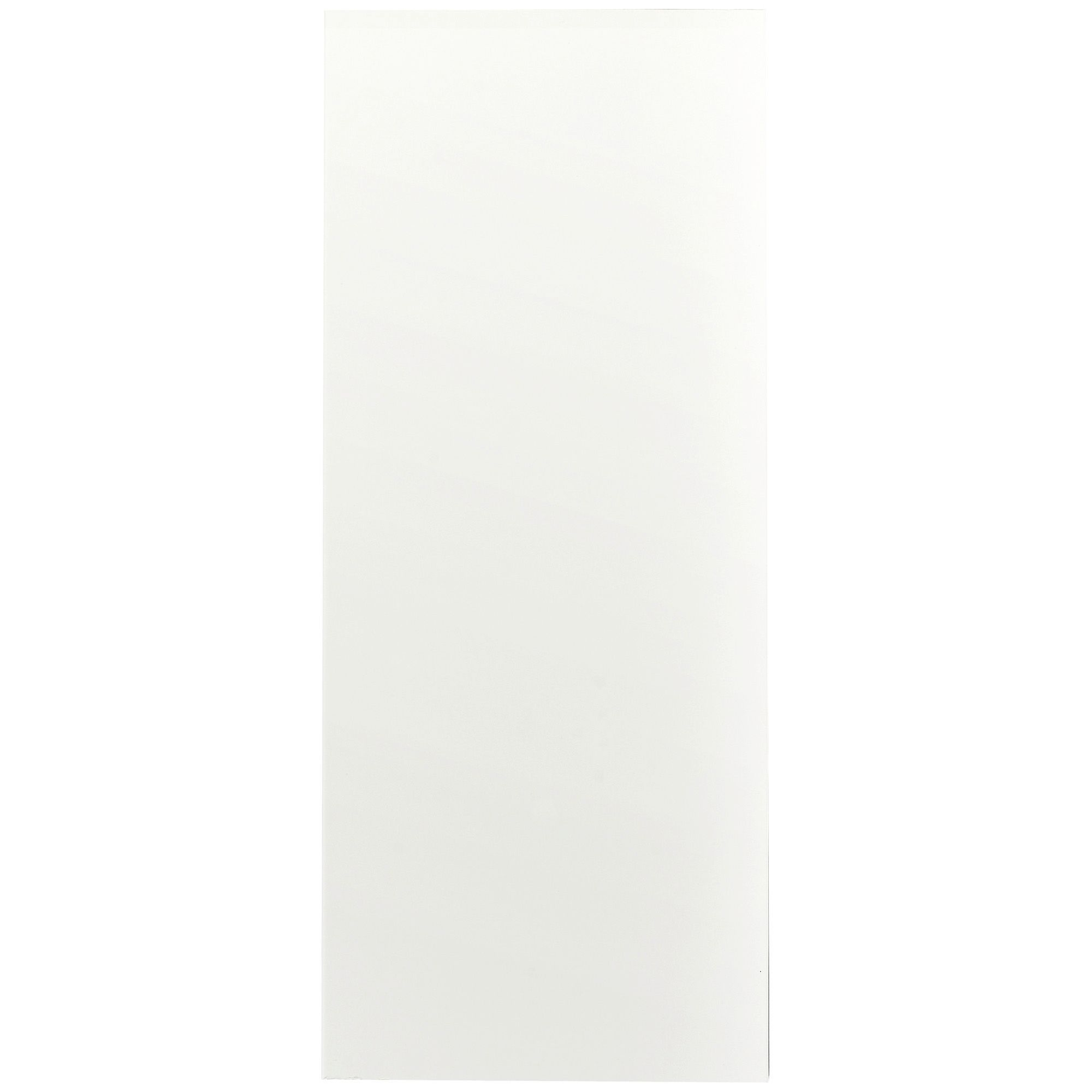 Cooke & Lewis Raffello High Gloss White Slab Clad-on Tall Wall Panel 405 Mm