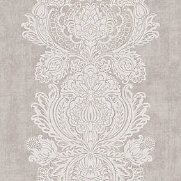 Colours Grandeur Natural Damask Wallpaper