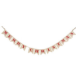 Colours Merry Christmas Bunting, (L)2.05m