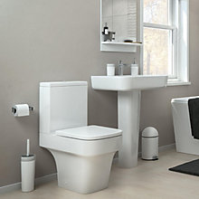 Caldaro Close Coupled Toilet & Full Pedestal Basin