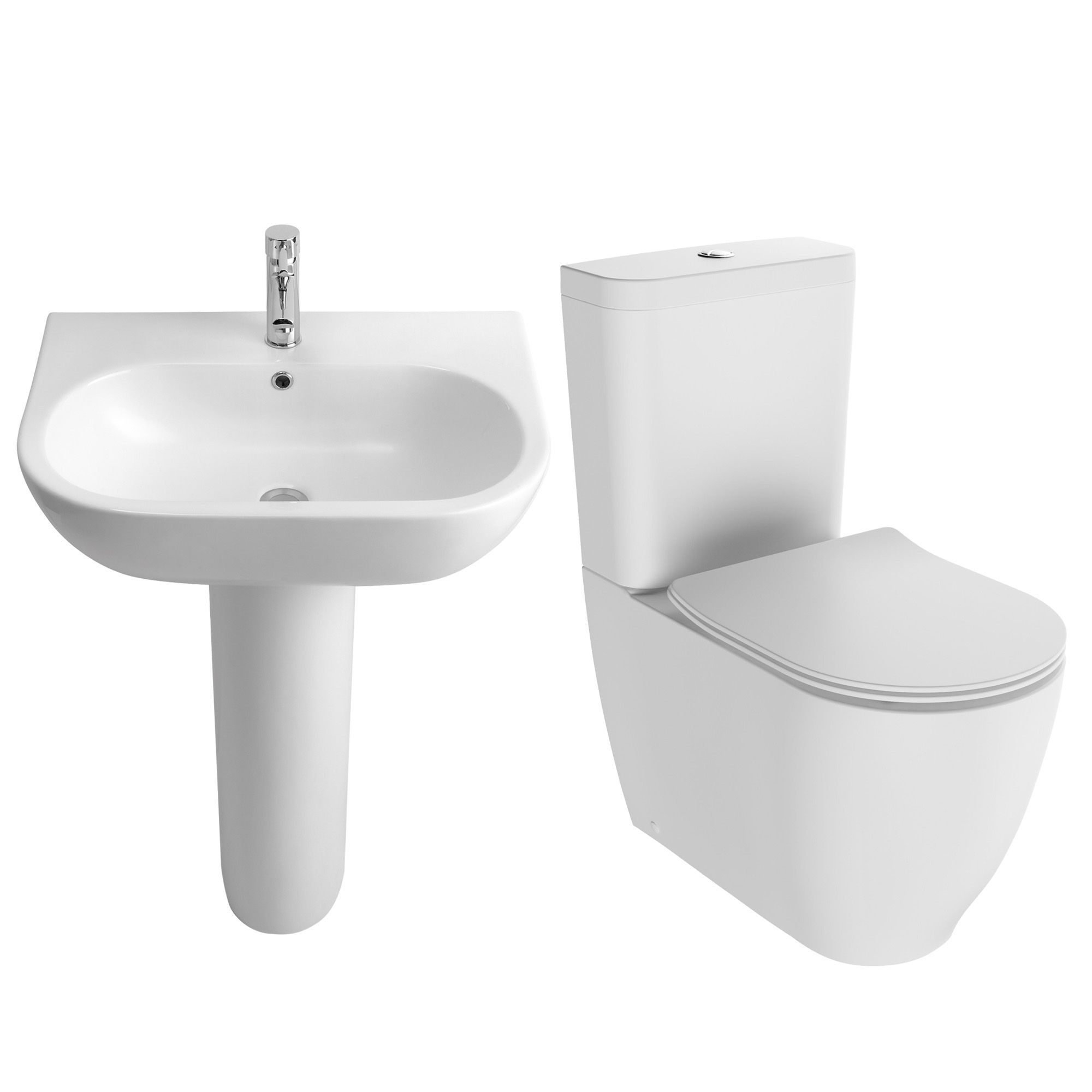 Cooke lewis helena close coupled toilet with soft close for B q bathroom suites
