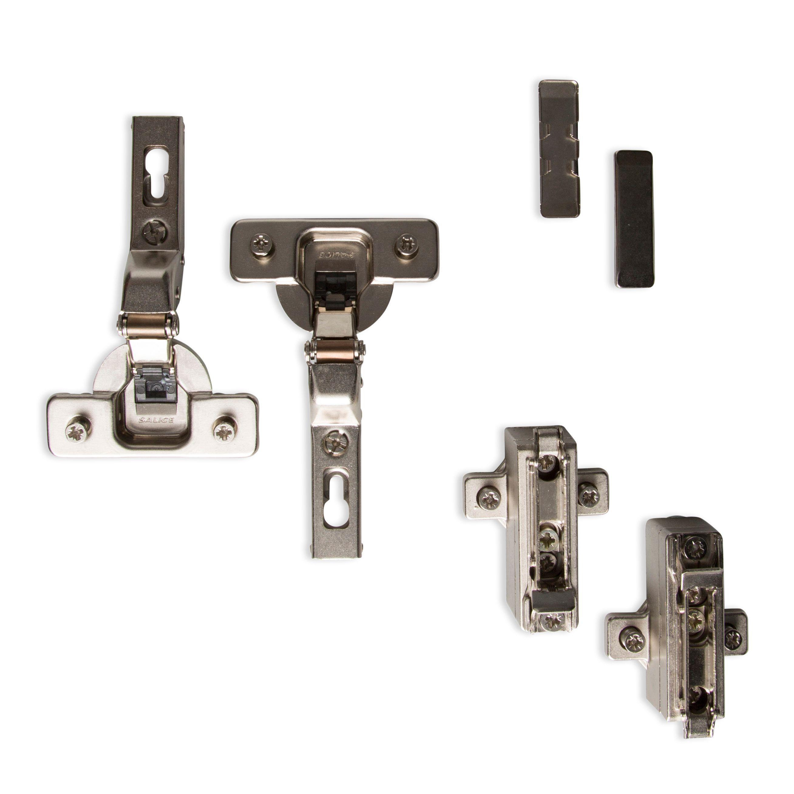Cooke lewis concealed framed door hinge set of 1 for Concealed door hinges