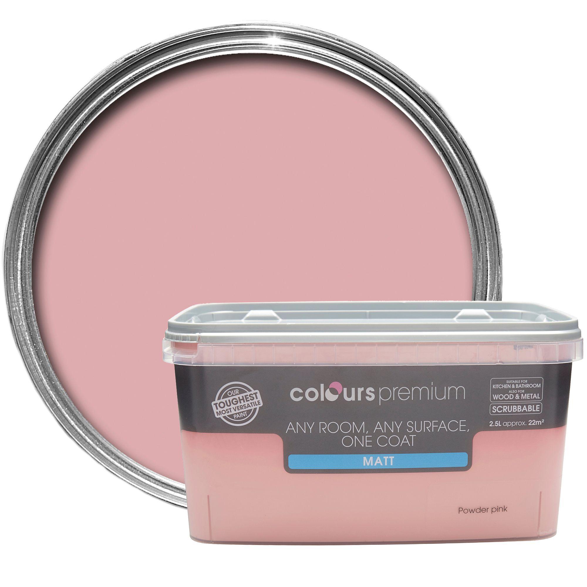 Colours Premium Powder Pink Matt Emulsion Paint 2.5l