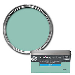 Colours Premium Sea Green Matt Emulsion Paint 2.5L