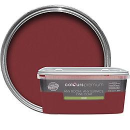 Colours Premium Classic Red Silk Emulsion Paint 2.5L