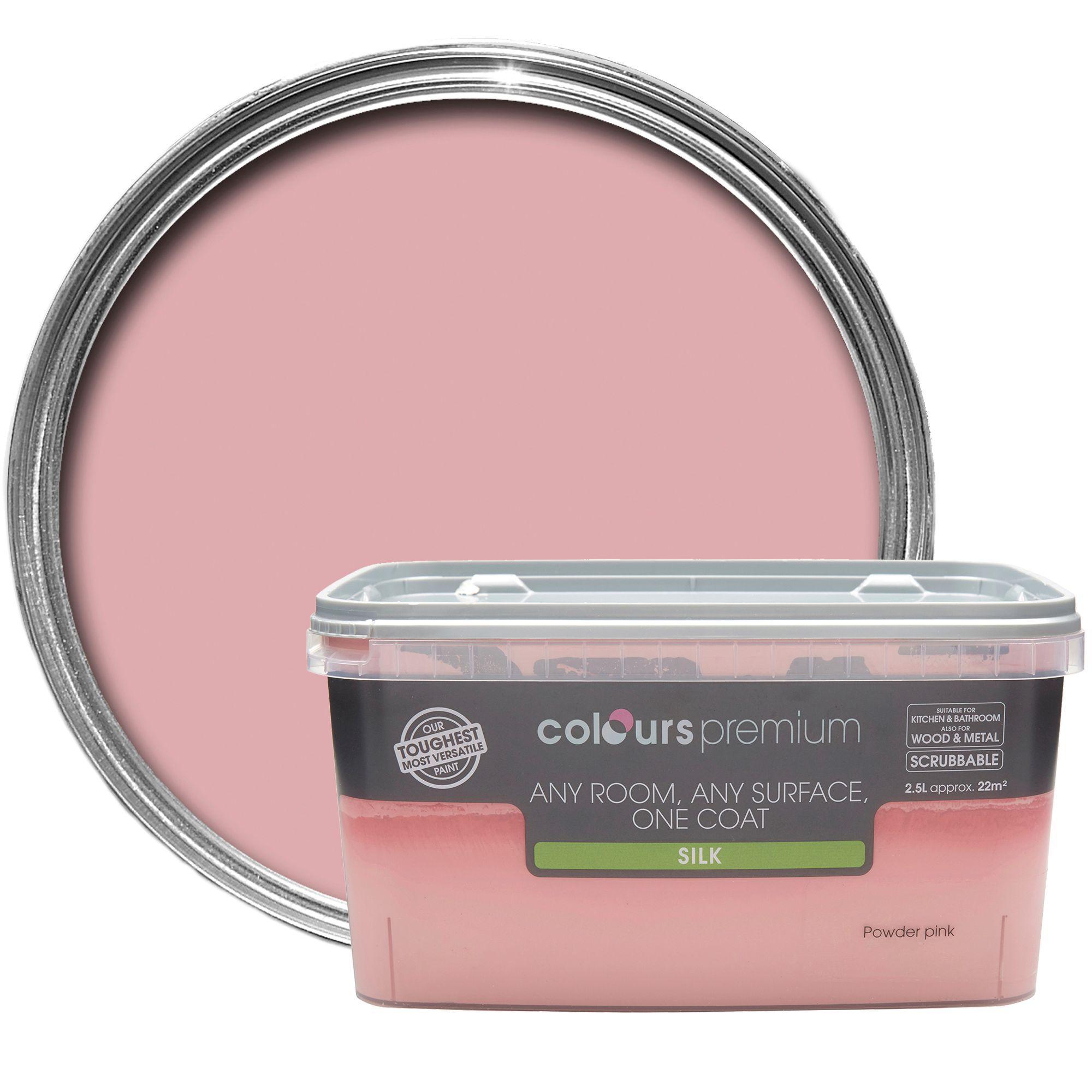 Colours Premium Powder Pink Silk Emulsion Paint 2.5l
