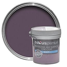 Colours Premium Blackcurrant Matt Emulsion Paint 50ml Tester