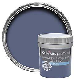 Colours Premium Blue Thistle Matt Emulsion Paint 50ml