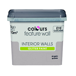 Colours Feature Wall Angelic Sparkle Glitter Emulsion Paint