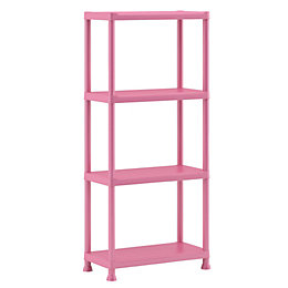 Form Flexi-Store Pink 4 Tier Shelving Unit (H)1350mm