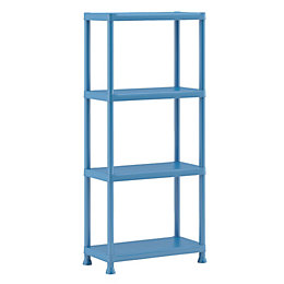 Form Flexi-Store Blue 4 Tier Shelving Unit (H)1350mm