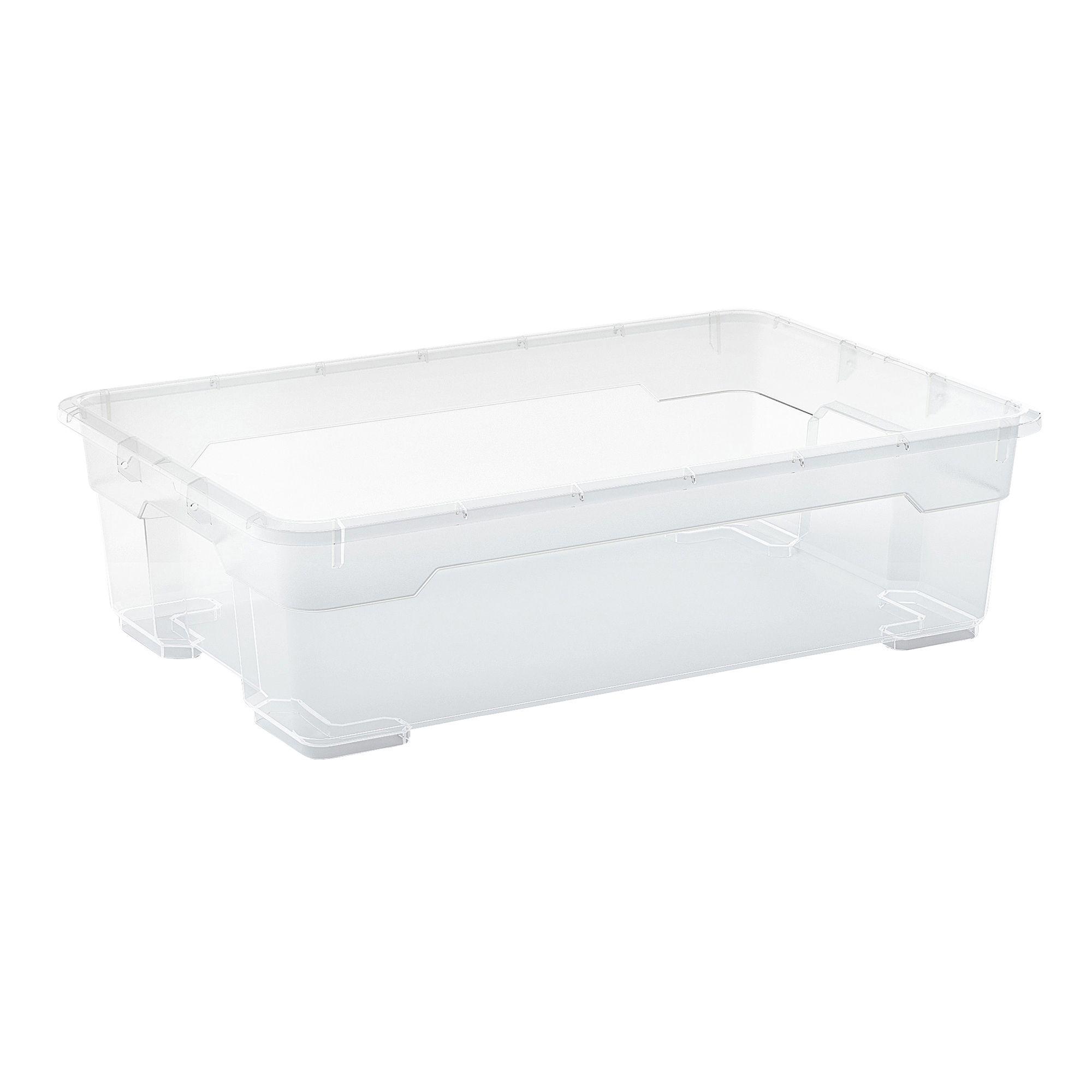 form flexistore clear medium 25l plastic storage box