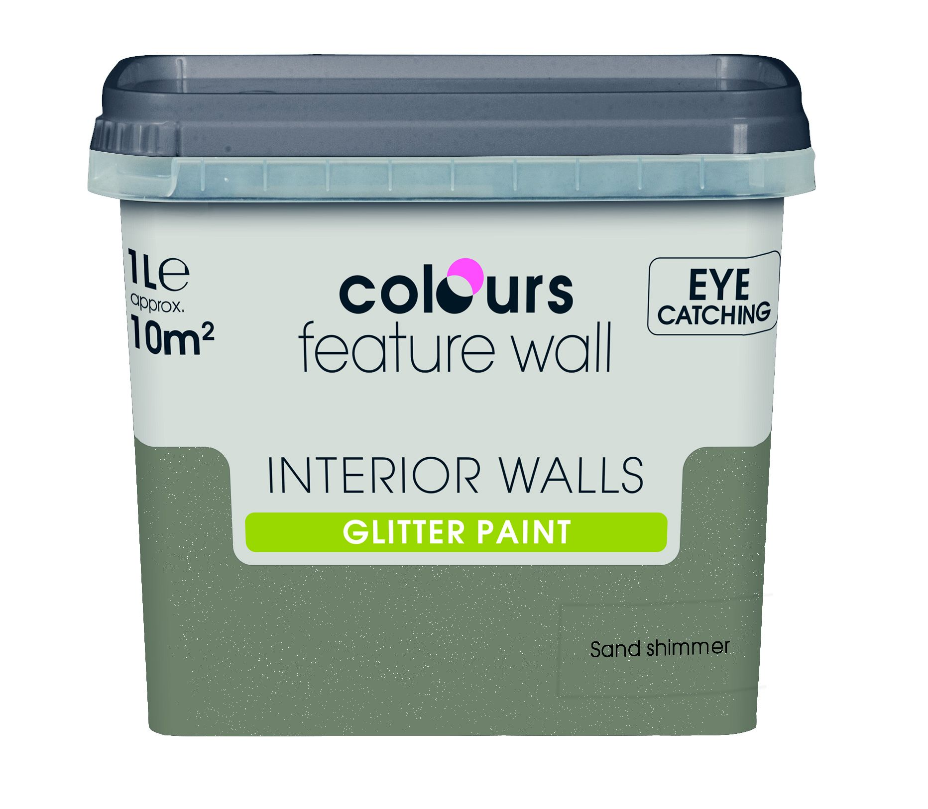 Colours Feature Wall Sand Shimmer Emulsion Paint 1l Departments Diy At B Q