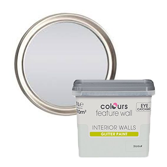 Colours Feature Wall Stardust Glitter Effect Emulsion Paint 1l