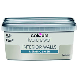 Colours Feature Wall Pearlescent Metallic Emulsion Paint 1L