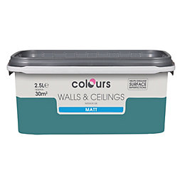 Colours Barbados Blue Matt Emulsion Paint 2.5L