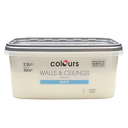 Colours Custard Cream Matt Emulsion Paint 2.5L
