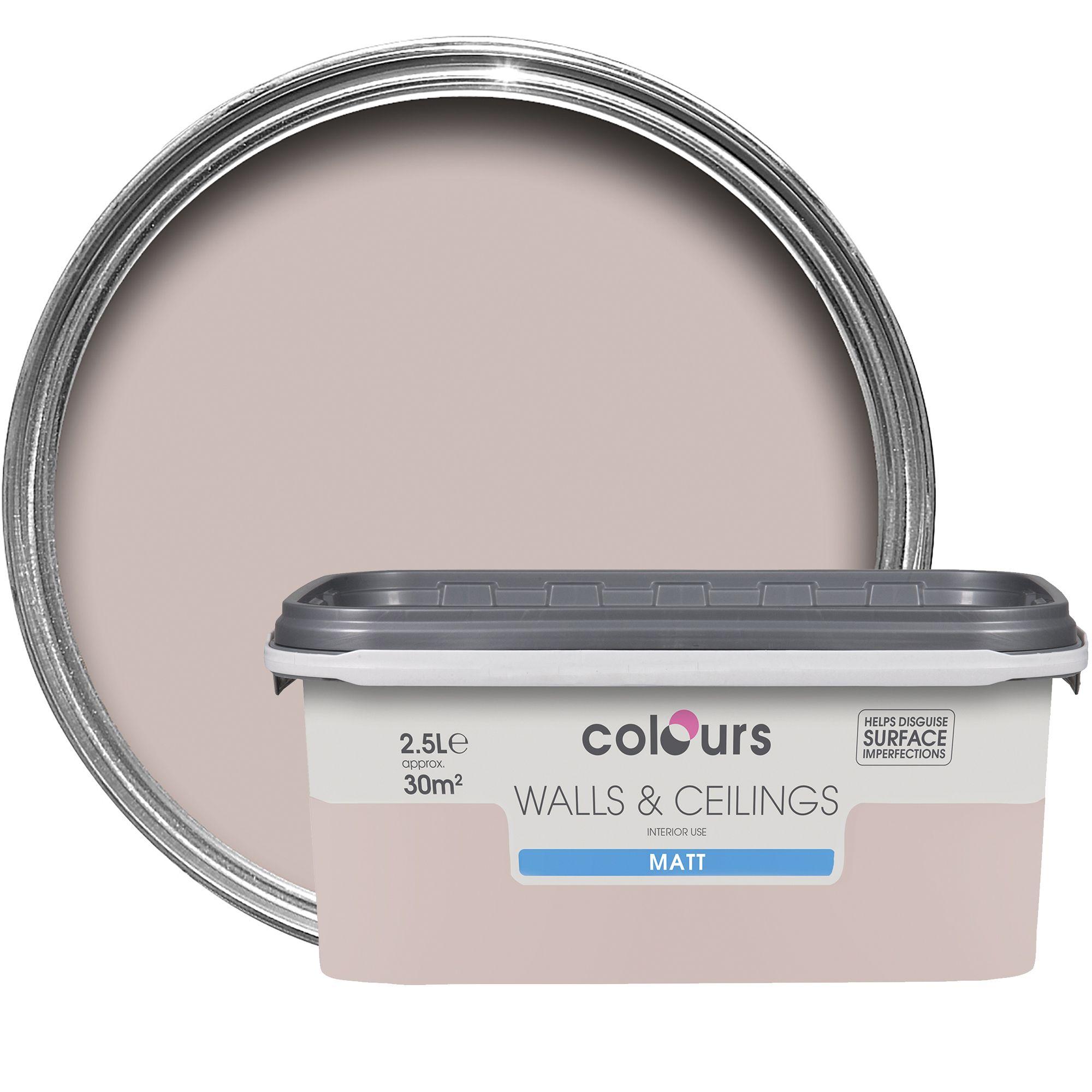 Colours Fairy Cake Matt Emulsion Paint 2 5l Departments