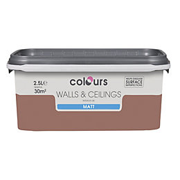 Colours Fired Brick Matt Emulsion Paint 2.5L