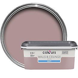 Colours Muted Rose Matt Emulsion Paint 2.5L