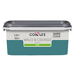 Colours Barbados Blue Silk Emulsion Paint 2.5L