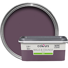 Colours Blackcurrant Silk Emulsion Paint 2.5L