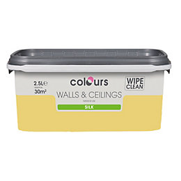 Colours Buttercup Silk Emulsion Paint 2.5L