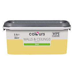 Colours Buttercup Silk Emulsion Paint 2.5L
